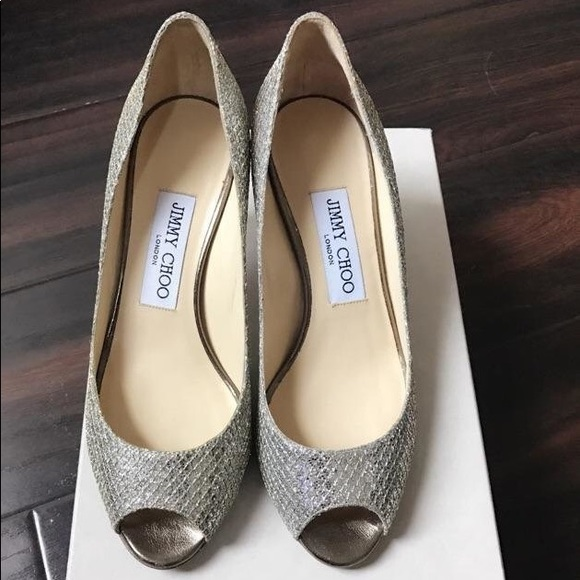 Jimmy Choo Low Heel Wedding Shoes